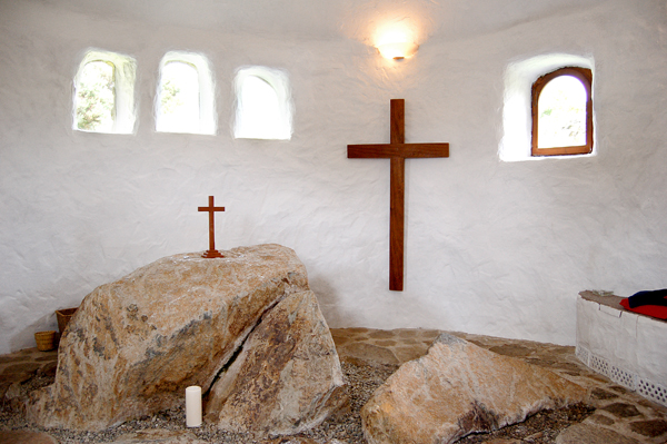 Photo of cross on wall