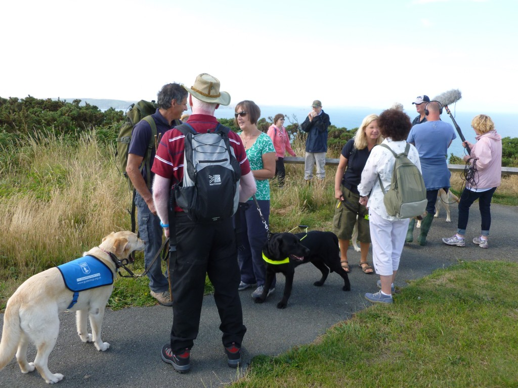 VIP group member at start of caostal path walk