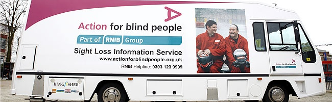 action for Blind people bus